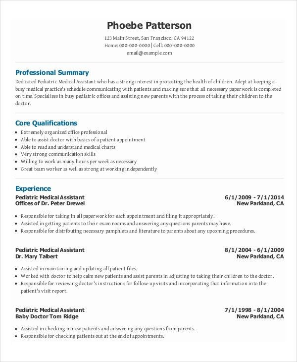 10+ Medical Administrative Assistant Resume Templates – Free ...