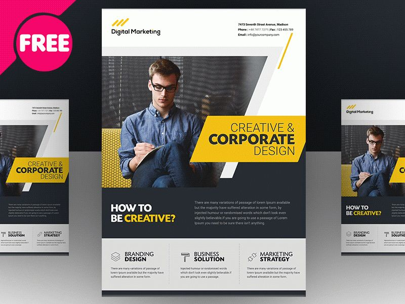 Free PSD - Creative And Corporate Market Flyer Template by Free ...