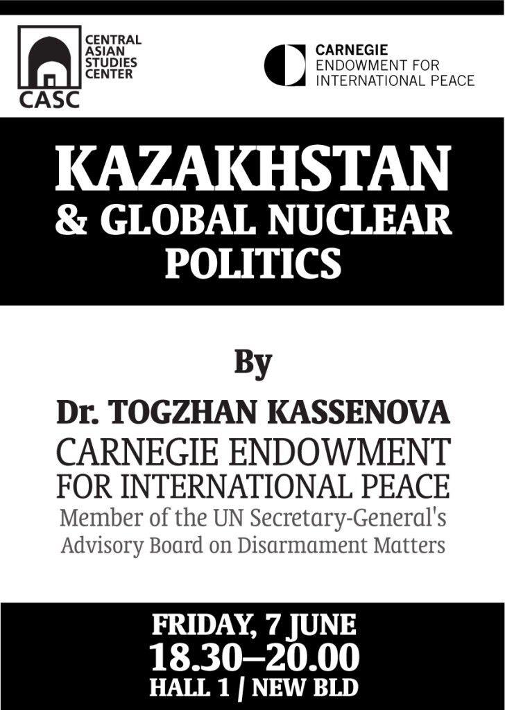 June   2013   Central Asian Studies Center (CASC)