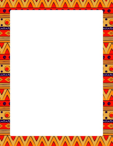 Page border featuring colorful tribal patterns. Free downloads at ...