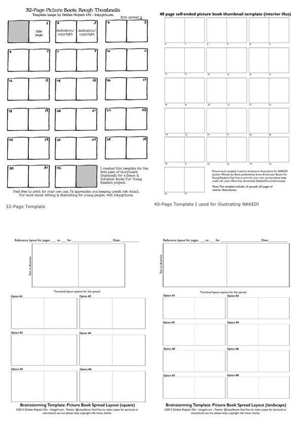 Free creative brainstorming templates for picture book writers and ...