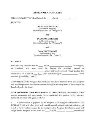 Quebec Commercial Lease Forms | Legal Forms and Business Templates ...