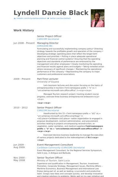 Project Officer Resume samples - VisualCV resume samples database