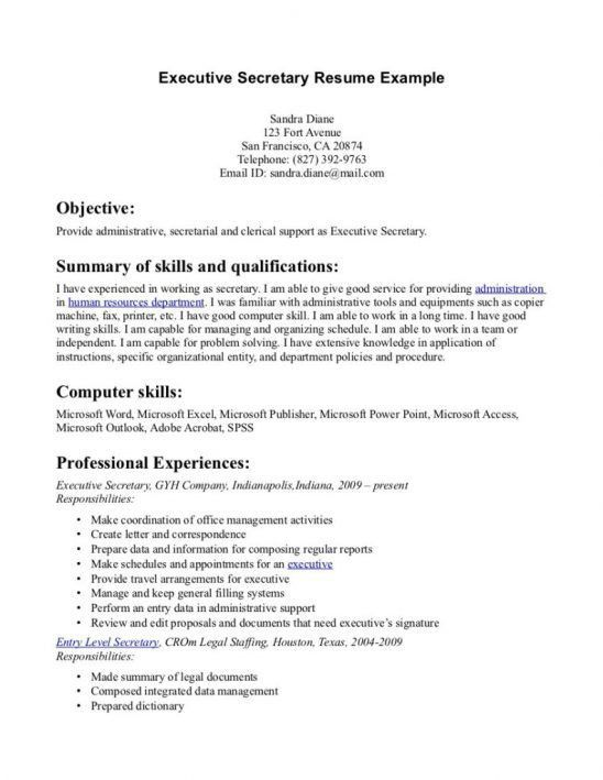 cover letter sample legal secretary resumes legal secretary sample ...