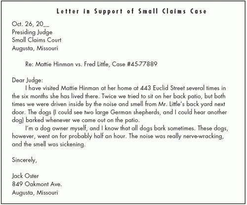Dog Law :: Barking Dogs > Small Claims Court :: DogLaw.HugPug.com