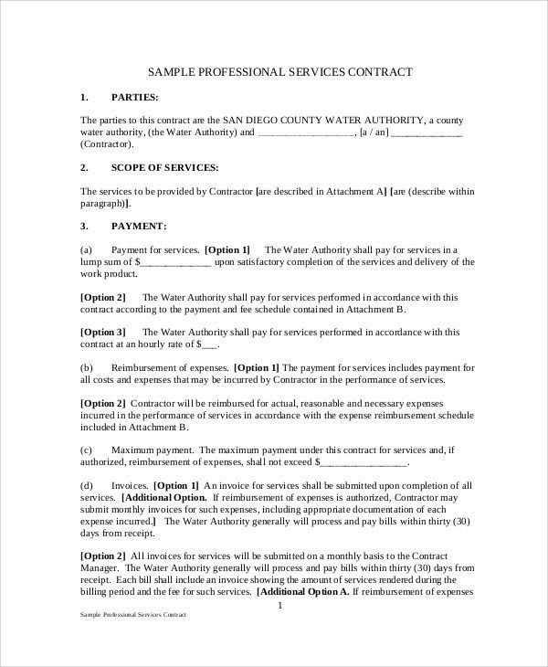 Sample Service Agreement Contract - 8+ Examples in Word, PDF