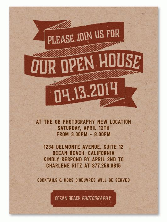 open house invitation - Google Search | invites | Pinterest | Open ...