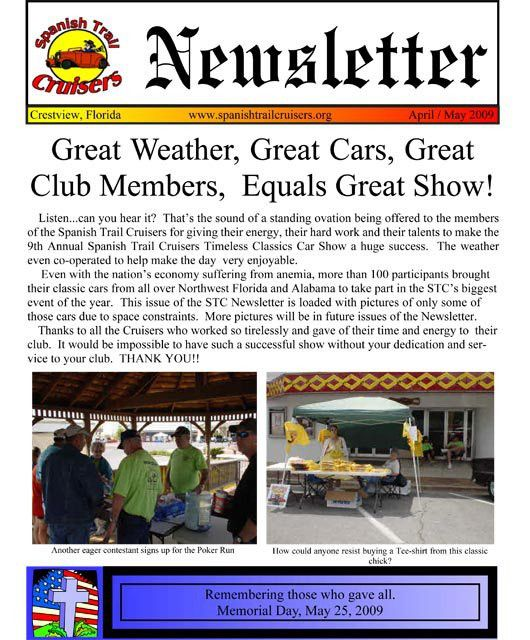 Spanish Trail Cruisers > Newsletter > Current Newsletter