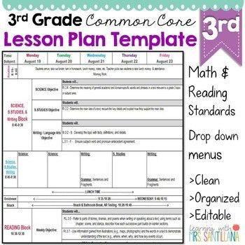 Lesson plan templates best 25 lesson plan templates ideas on third grade common core lesson plan template by math tech connections pronofoot35fo Gallery