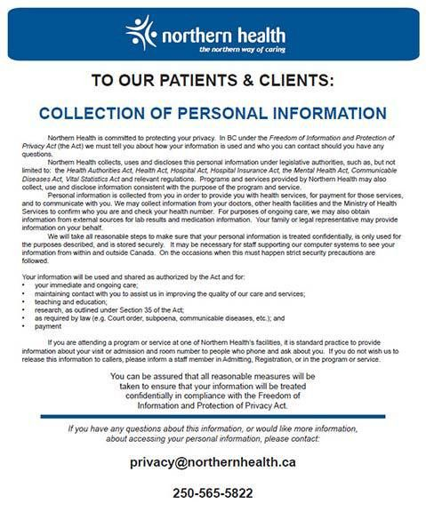 Northern Health > About Us > Information Privacy Office