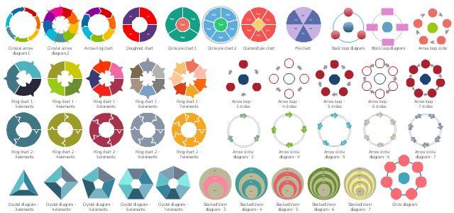 Arrow circle chart - Template | Donut chart - Template | Pie ...