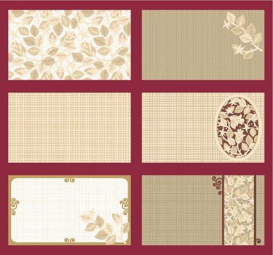 Elegant card template vector roses theme Free Vector / 4Vector