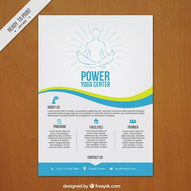 Hand drawn yoga center poster Vector | Free Download