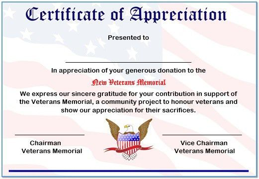 Examples Of Certificates Of Appreciation Wording [Template ...