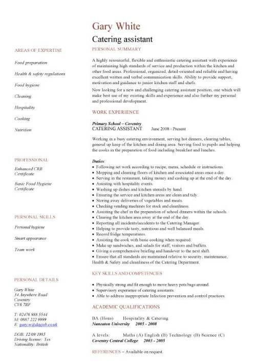 Hospitality CV templates, free downloadable, hotel receptionist ...
