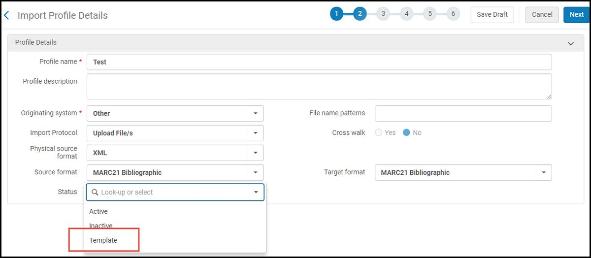 Creating Import Profile Templates in the Network Zone - Ex Libris ...