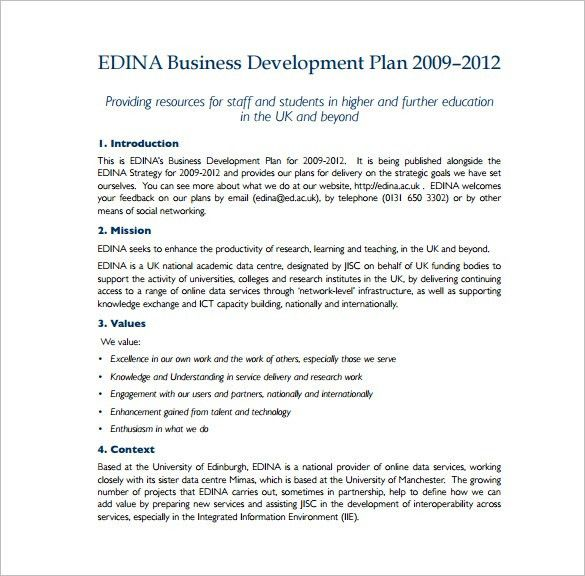 9+ Business Plan Templates – Free Sample, Example, Format Download ...