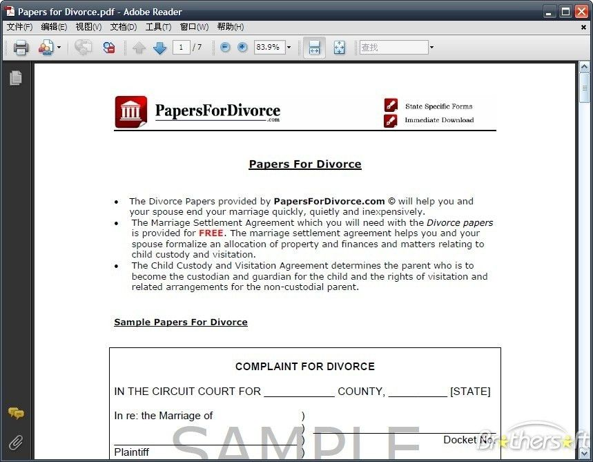 Free Fake Divorce Certificate [Template.billybullock.us ]