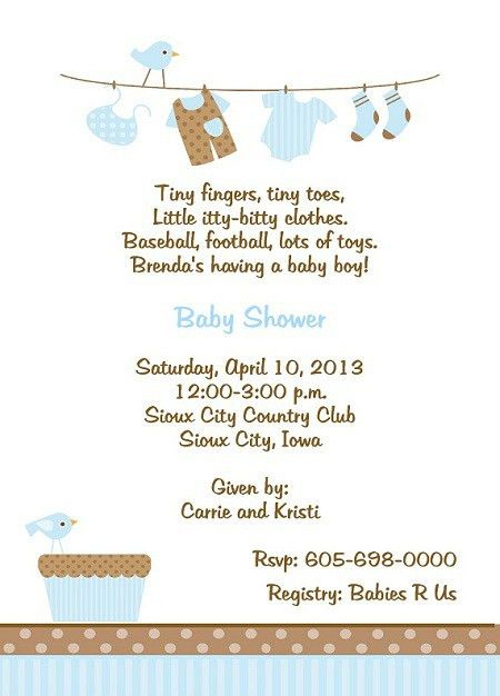 Baby Boy Shower Invitation Wording | christmanista.com