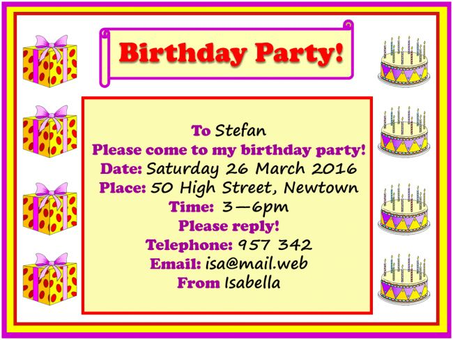 Birthday party invitation | LearnEnglish Kids | British Council