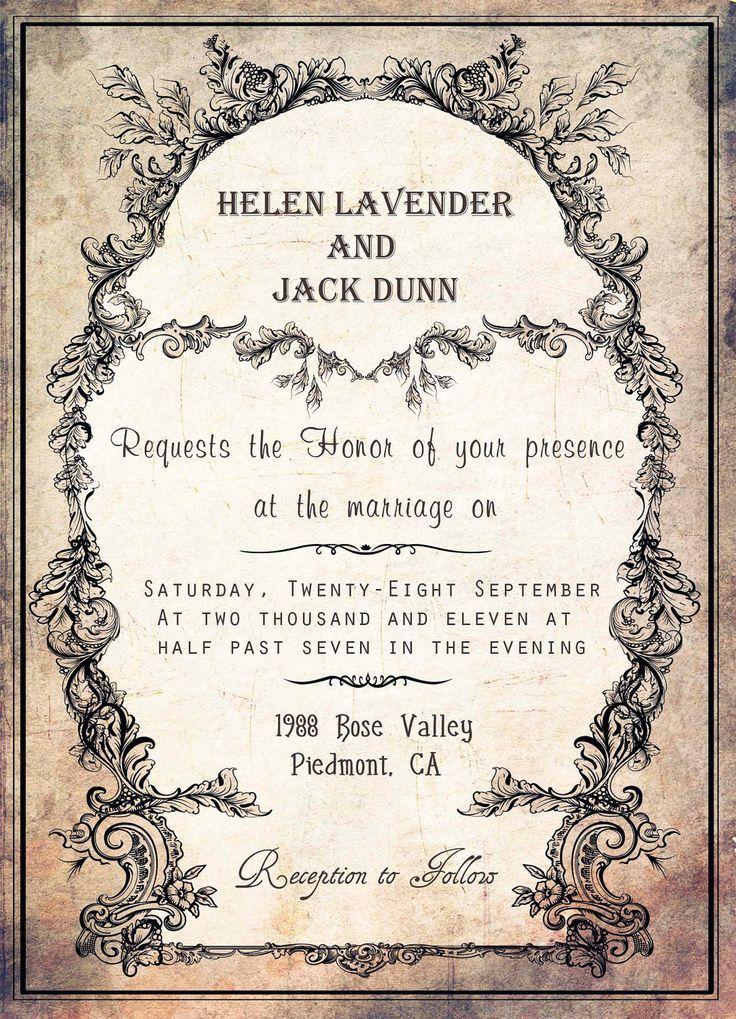 Vintage Wedding Invitation Templates - plumegiant.Com
