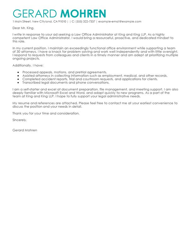 Cover Letter Examples For Administrative Jobs admin cover letters ...