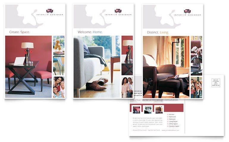 Interior Designer Postcard Template - Word & Publisher