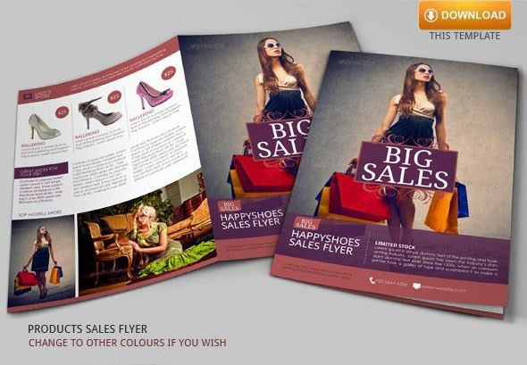 Sales Flyer Template | Modern Design on Behance