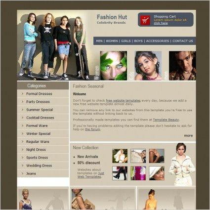 Fashion Hut Template Free website templates in css, html, js ...