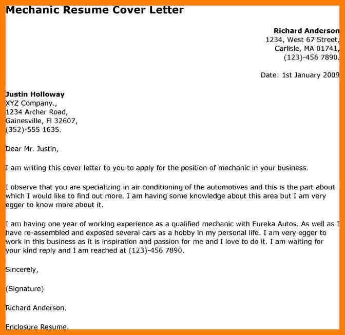 Sample Mechanic Resume   Jobs.billybullock.us