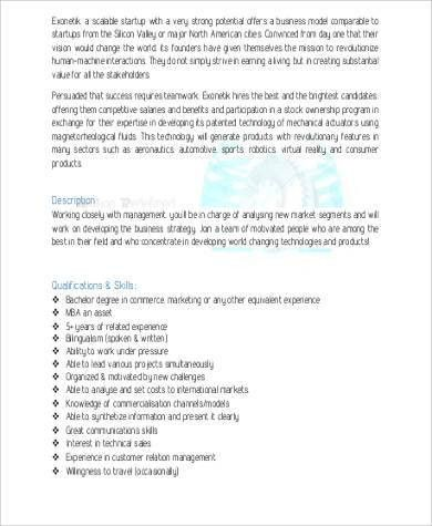 Marketing Analyst Job Description Sample - 9+ Examples in Word, PDF