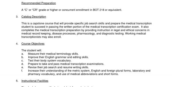 Medical Transcription Editor Cover Letter
