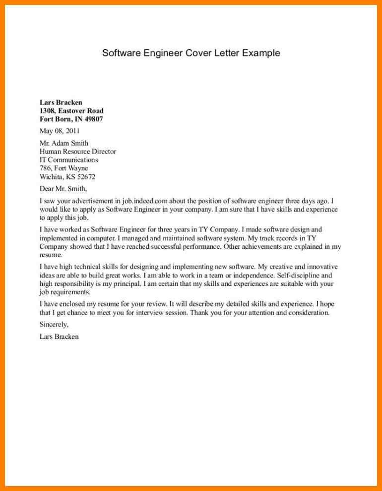 software engineer intern cover letter example. 16 examples of ...
