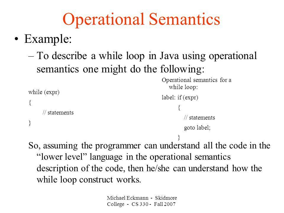 CS 330 Programming Languages 09 / 18 / 2007 Instructor: Michael ...