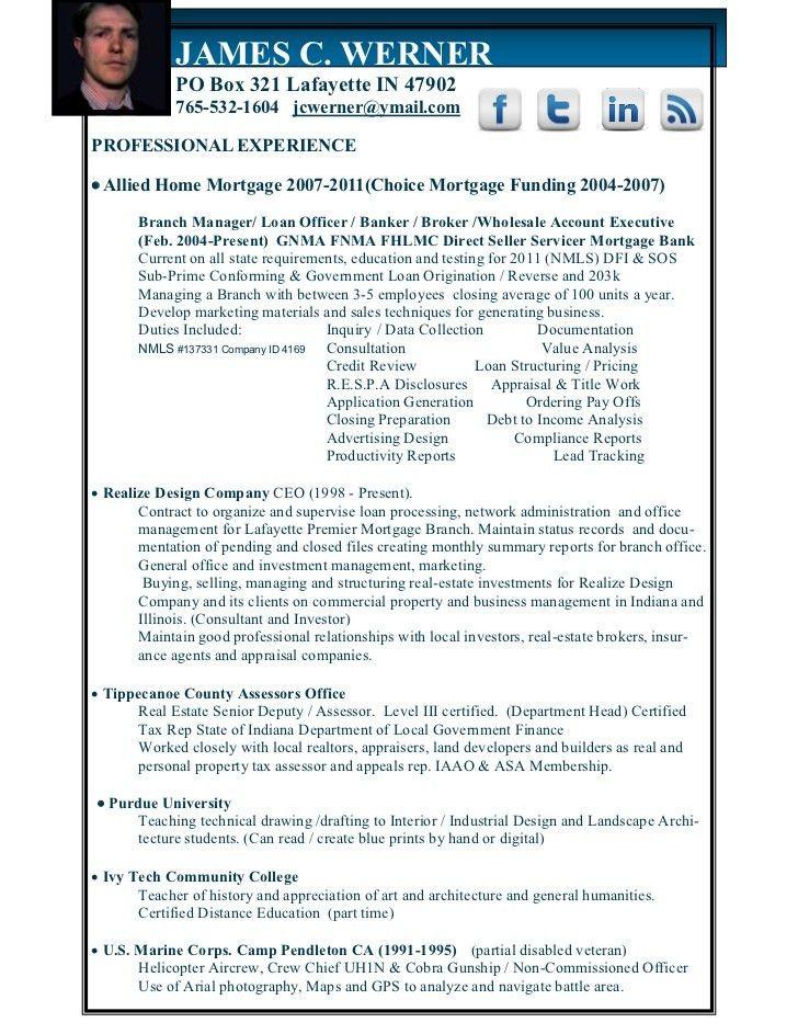 Mortgage Underwriter Resume Examples] Resume, Mortgage Underwriter ...