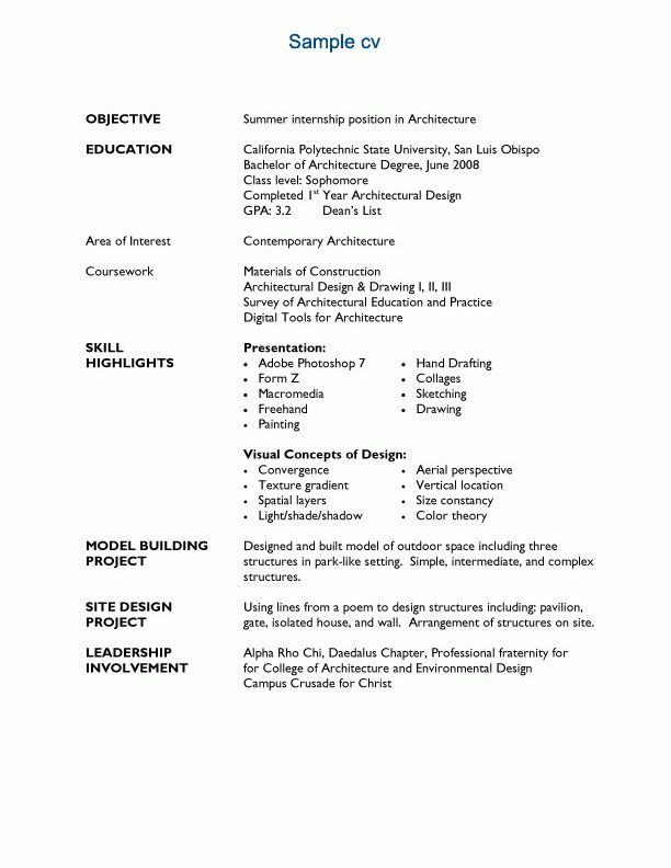 Resume Examples. best 10 collection of architect resume template ...