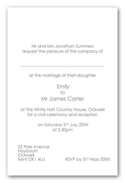 Wedding Invitation Wording For Reception At Different Location ...