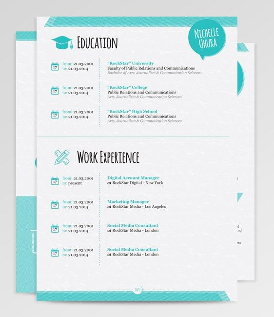 Cool resume! … | Pinteres…