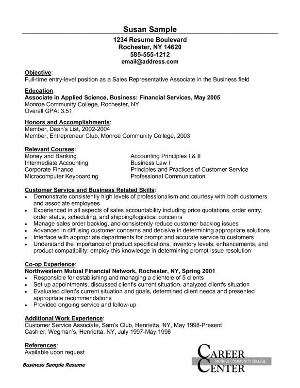 Customer Service Sample Resumes [Template.billybullock.us ]