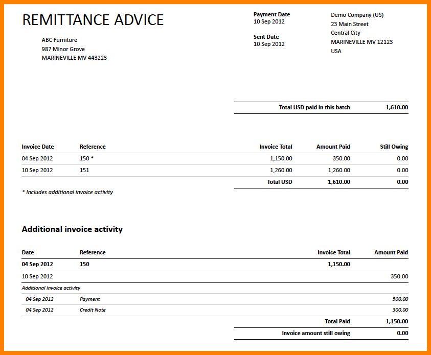 13+ invoice remittance sample | ledger paper