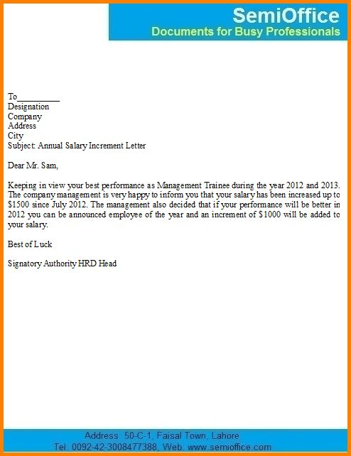 13+ salary increase letter | Letter Template Word