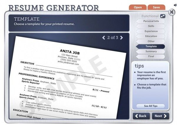 Readwritethink Resume Generator. read write think resume generator ...