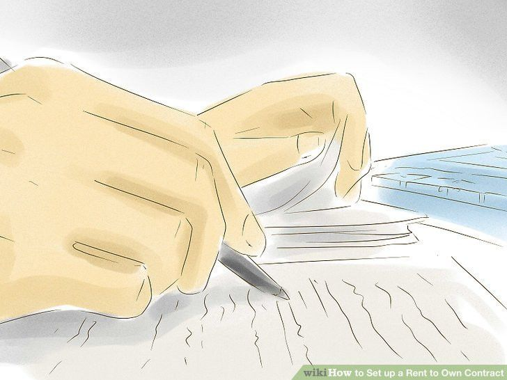 How to Set up a Rent to Own Contract (with Pictures) - wikiHow