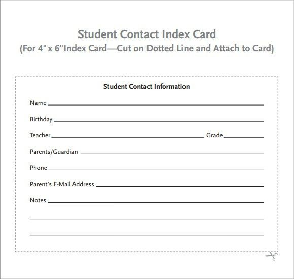 Index Card Template - 8+ Download Free Documents in PDF , Excel