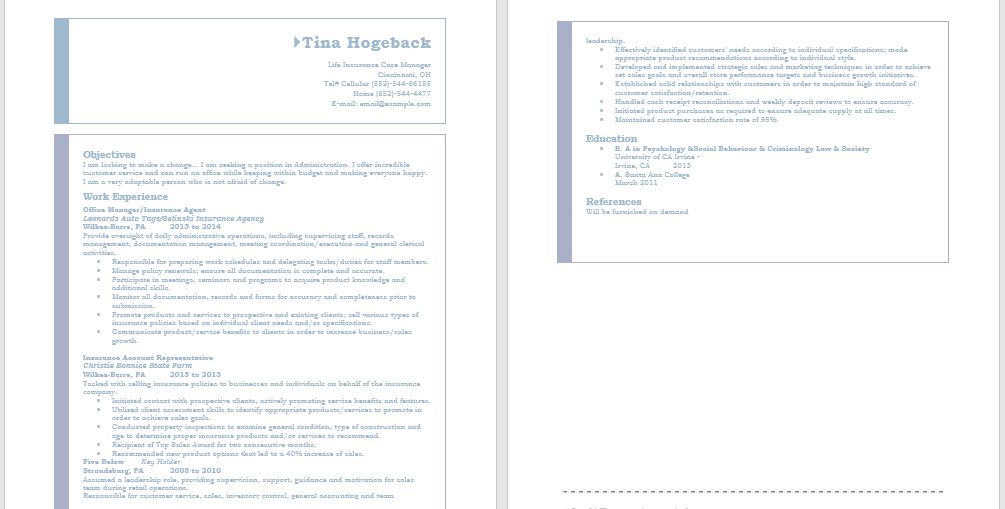 Sample Resumes – Page 2 – Collection of Free Sample Resume Examples