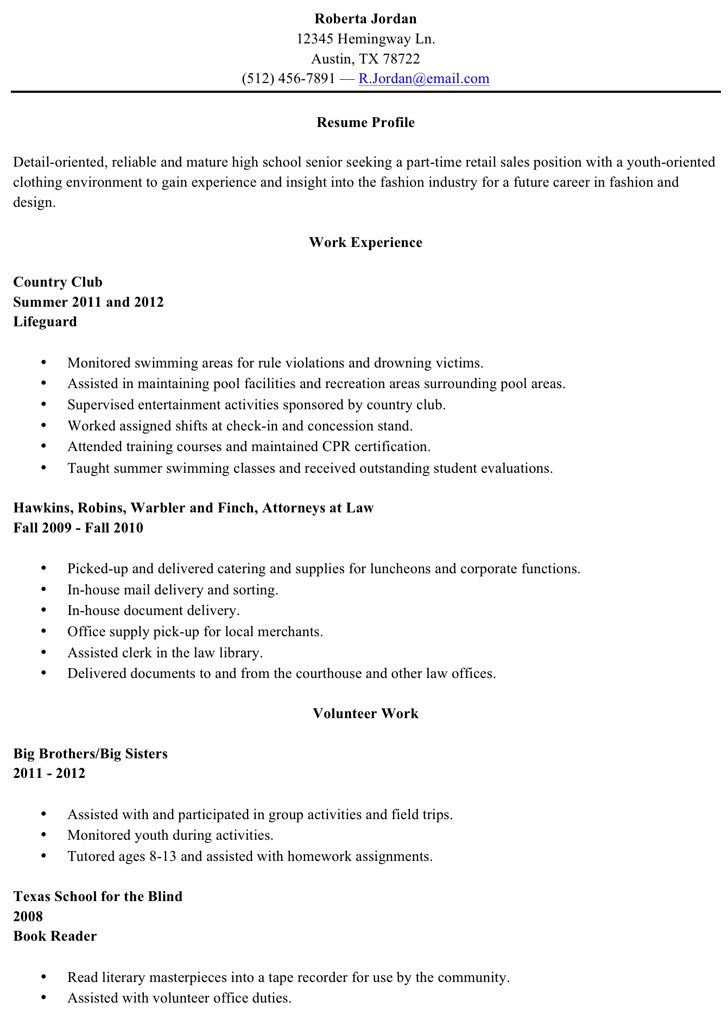 High School Graduate Resume Objective High School Grad Resume ...