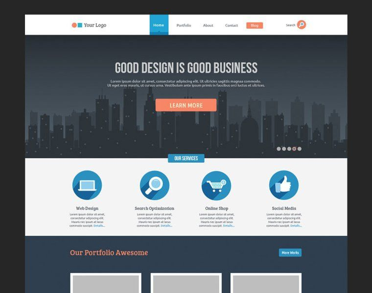 20 New Gorgeous Free PSD Website Templates