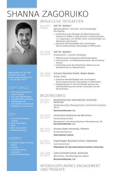 Intern Resume samples - VisualCV resume samples database