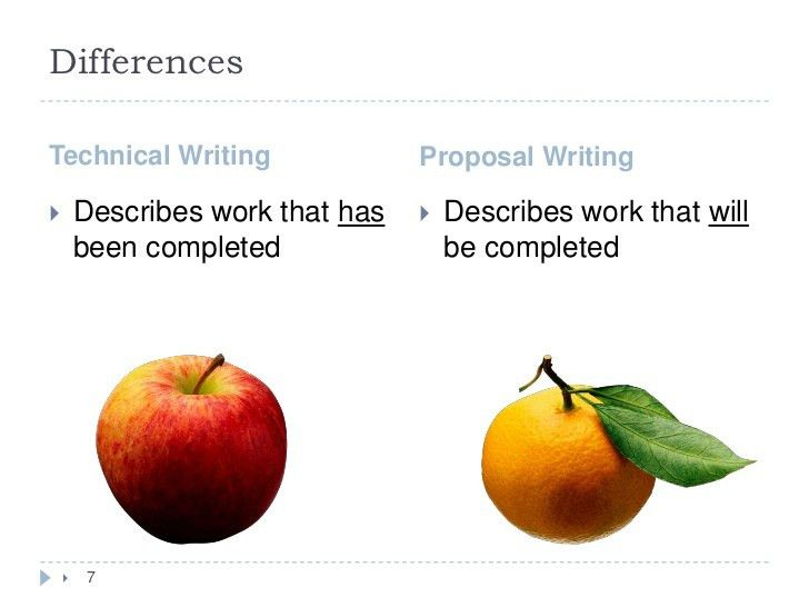 Apples to oranges similarities and differences between technical writ…