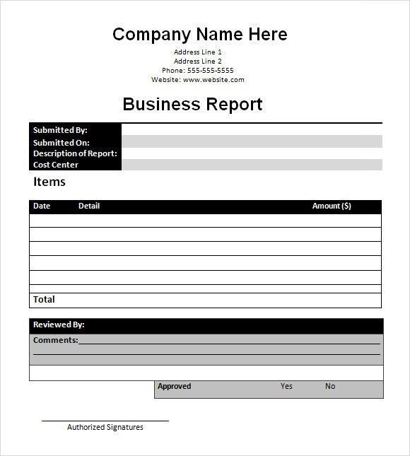 Sample Business Report - 6+ Documents in PDF, PSD